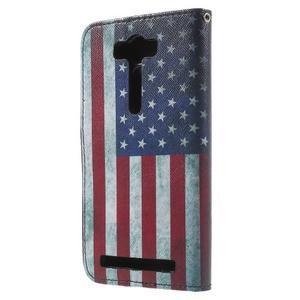 Koženkové pouzdro na Asus Zenfone 2 Laser - US vlajka - 2