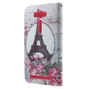 Koženkové pouzdro na Asus Zenfone 2 500KL Laser - Eiffelova věž - 2
