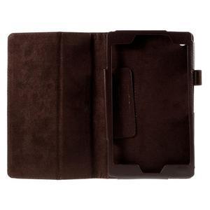 Koženkové pouzdro na tablet Asus ZenPad 7.0 Z370CG - coffee - 2