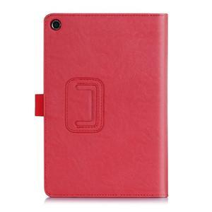 Polohovatelné koženkové pouzdro na tablet Asus ZenPad S 8.0 - červené - 2