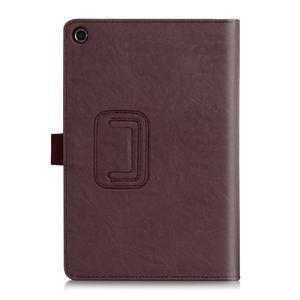 Polohovatelné koženkové pouzdro na tablet Asus ZenPad S 8.0 - hnědé - 2