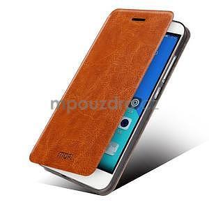 Koženkové pouzdro na mobil Honor 7 - hnědé - 2