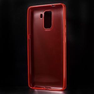 Transparentní gelový obal na telefon Honor 7 - červený - 2