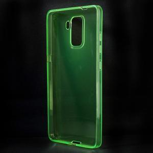 Transparentní gelový obal na telefon Honor 7 - zelený - 2