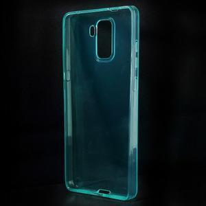 Transparentní gelový obal na telefon Honor 7 - azurový - 2