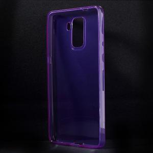 Transparentní gelový obal na telefon Honor 7 - fialový - 2