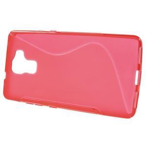 Červený gelový kryt S-line na Huawei Honor 7 - 2