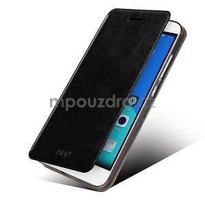 Koženkové pouzdro na mobil Honor 7 - černé - 2
