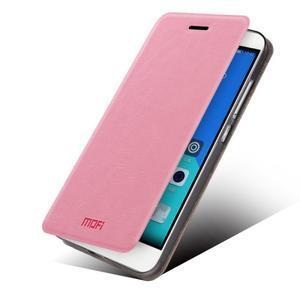 Koženkové pouzdro na mobil Honor 7 - růžové - 2