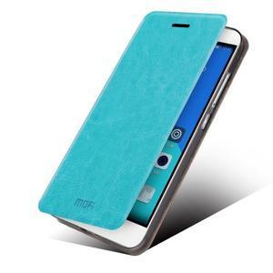 Koženkové pouzdro na mobil Honor 7 - modré - 2