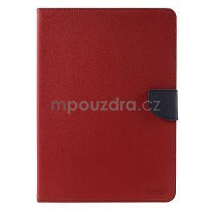 Diary peněženkové pouzdro na iPad Air - červené - 2