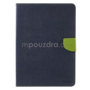 Diary peněženkové pouzdro na iPad Air - tmavěmodré - 2