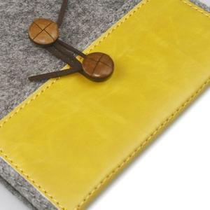 Envelope univerzální pouzdro na tablet 22 x 16 cm - žluté - 2
