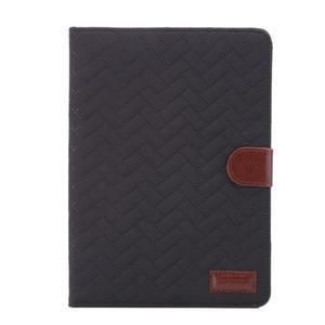 Texture luxusní pouzdro na iPad Mini 3, iPad Mini 2 a iPad Mini - černé - 2