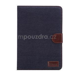 Jeans luxusní pouzdro na iPad Mini 3, iPad Mini 2 a iPad Mini - černomodré - 2