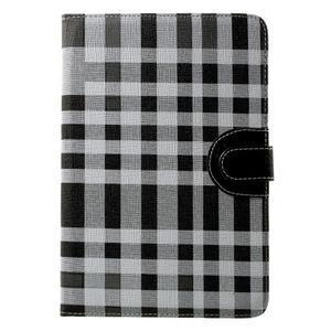 Kostkované pouzdro na Apple iPad Mini 3, iPad Mini 2 a iPad Mini - černé - 2