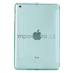 Lines polohovatelné pouzdro na iPad Mini 3 / iPad Mini 2 / iPad mini - cyan - 2