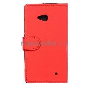 Ochranné peněženkové pouzdro Microsoft Lumia 640 - červené - 2