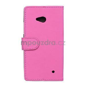 Ochranné peněženkové pouzdro Microsoft Lumia 640 - rose - 2