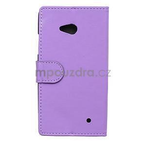 Ochranné peněženkové pouzdro Microsoft Lumia 640 - fialové - 2