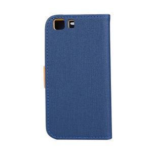 Clothy PU kožené pouzdro na mobil Doogee X5 - tmavěmodré - 2