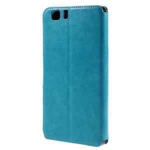 Peněženkové PU kožené pouzdro na mobil Doogee X5 - modré - 2