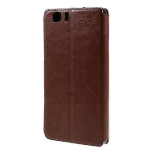 Peněženkové PU kožené pouzdro na mobil Doogee X5 - hnědé - 2