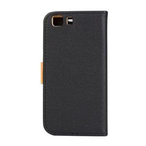 Clothy PU kožené pouzdro na mobil Doogee X5 - černé - 2