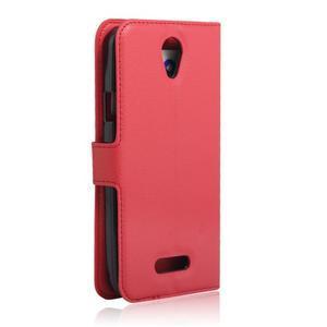 Peněženkové pouzdro na mobil Doogee X6 - červené - 2