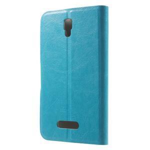 Horse peněženkové pouzdro na Lenovo A2010 - modré - 2