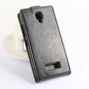Flipové pouzdro na mobil Lenovo A2010 - hnědé - 2