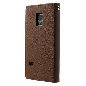 Diary PU kožené pouzdro na Samsung Galaxy S5 mini - hnědé - 2