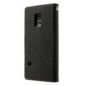 Diary PU kožené pouzdro na Samsung Galaxy S5 mini - černé/hnědé - 2