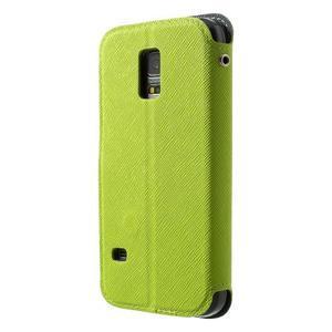 Pěněženkové pouzdro s okýnkem pro Samsung Galaxy S5 mini -  zelené - 2