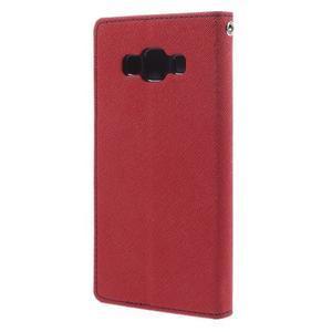 Mr. Fancy koženkové pouzdro na Samsung Galaxy A5 - červené - 2
