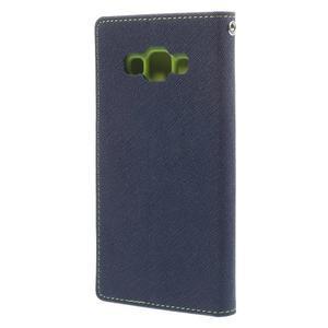 Mr. Fancy koženkové pouzdro na Samsung Galaxy A5 - tmavěmodré - 2