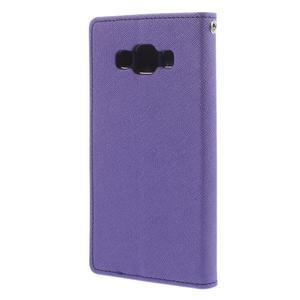Mr. Fancy koženkové pouzdro na Samsung Galaxy A5 - fialové - 2