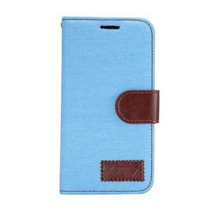 Jeans peněženkové pouzdro na Samsung Galaxy A5 - světlemodré - 2
