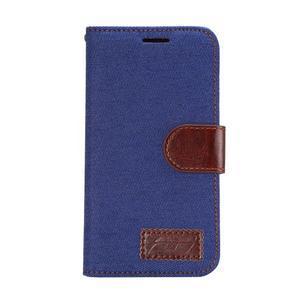 Jeans peněženkové pouzdro na Samsung Galaxy note 3 - tmavěmodré - 2