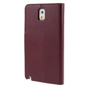 Setsnow PU kožené pouzdro na Samsung Galaxy Note 3 - vínové - 2