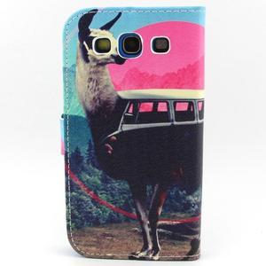 Peněženkové pouzdro na mobil Samsung Galaxy S3 - lama - 2