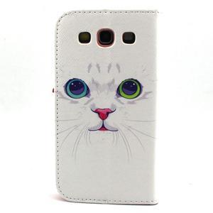 Peněženkové pouzdro na mobil Samsung Galaxy S3 - kočička - 2
