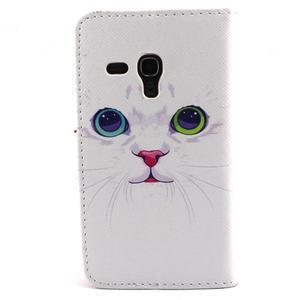 Fun peněženko pouzdro na Samsung Galaxy S3 mini - kočička - 2