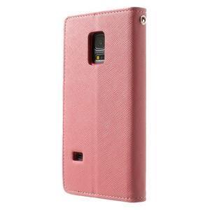 Diary PU kožené pouzdro na Samsung Galaxy S5 mini - růžové - 2