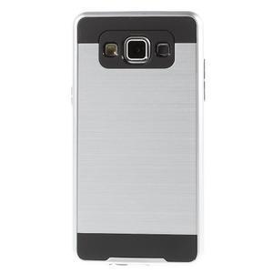 Hybridní gelové/plastové pouzdro na Samsung Galaxy A5 - stříbrné - 2