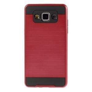 Hybridní gelové/plastové pouzdro na Samsung Galaxy A5 - červené - 2