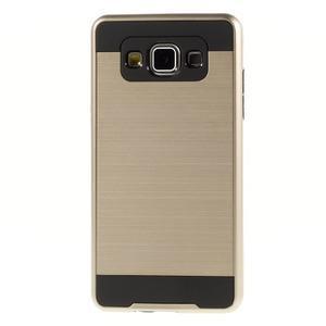 Hybridní gelové/plastové pouzdro na Samsung Galaxy A5 - zlaté - 2