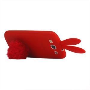Gelové pouzdro na Samsung Galaxy S III / S3 - červený králík - 2