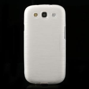 Brush gelový kryt na Samsung Galaxy S III / Galaxy S3 - bílý - 2