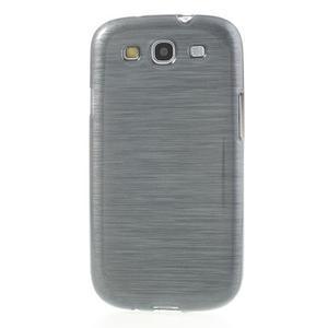 Brush gelový kryt na Samsung Galaxy S III / Galaxy S3 - šedý - 2